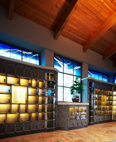 Custom Columbarium Suite in California by CMC