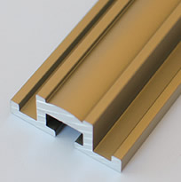 Aluminum Extrusion With Satin Gold Finish for Glass Front Niches