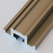 Aluminum Extrusion With Light Bronze Finish for Glass Front Niches