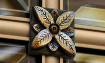 Signature Floral Rosette for Glass Front Niches